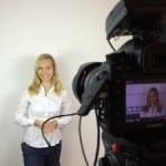 Dreharbeiten für Moderationsvideo