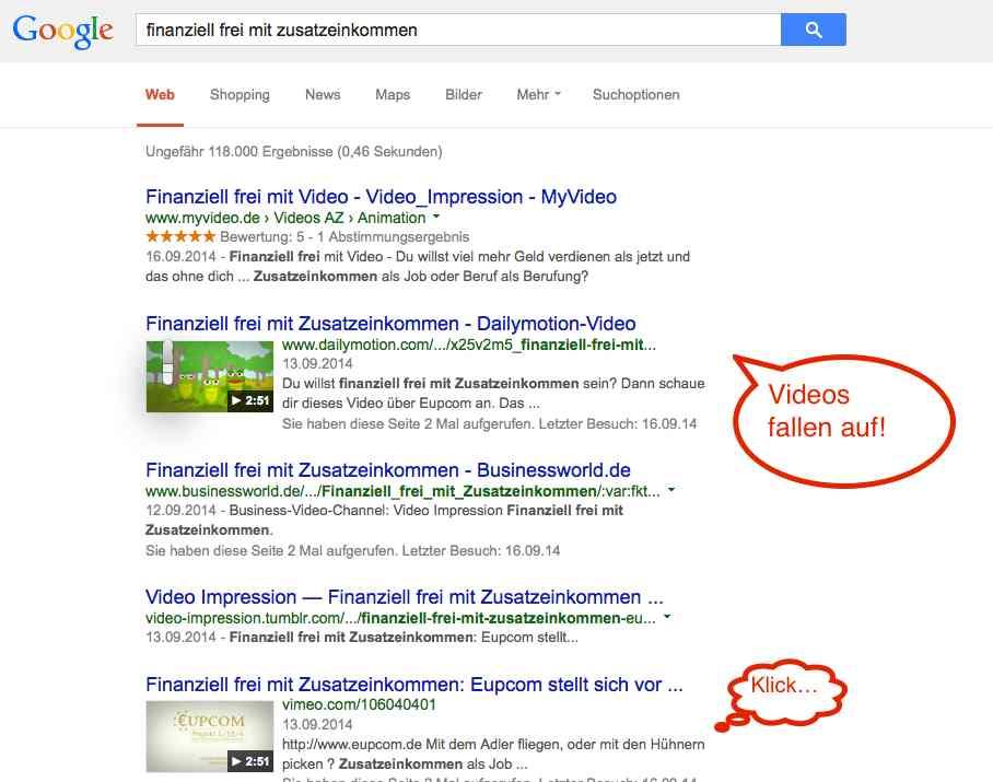 Suchmaschinenoptimierung mit VIdeo
