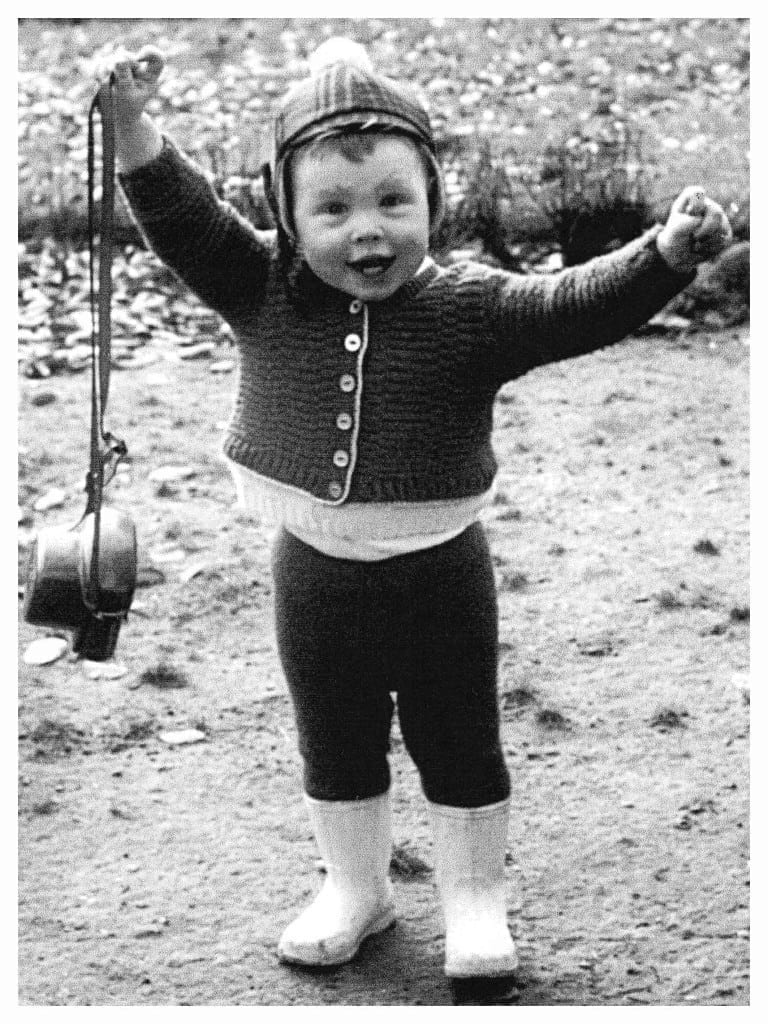 Petra Fischer als Kind