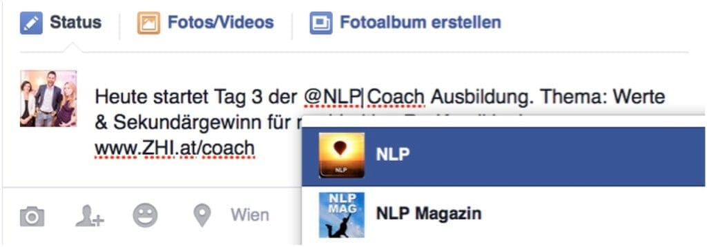 Post bei FB